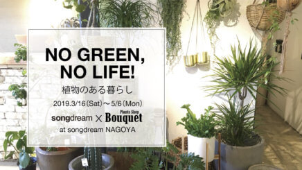 NO GREEN NO LIFE!at songdream 名古屋店