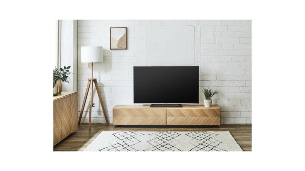 テレビボードメイレキのホワイトオークのコーディネート