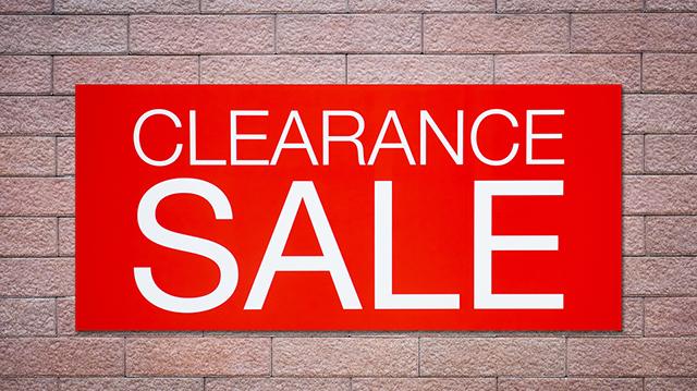 Clearance sale billboard